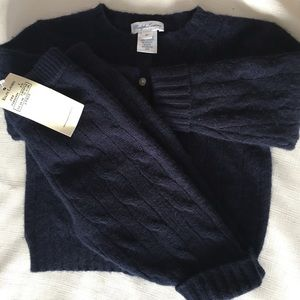 NWT Ralph Lauren cashmere cable knit sweater set